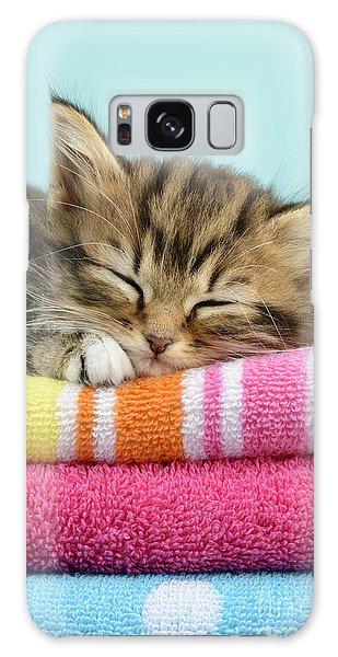 Tabby Galaxy Case - Sleepy Kitten by MGL Meiklejohn Graphics Licensing