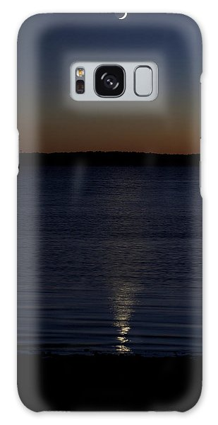 Sliver - A Crescent Moon On The Lake Galaxy Case by Jane Eleanor Nicholas