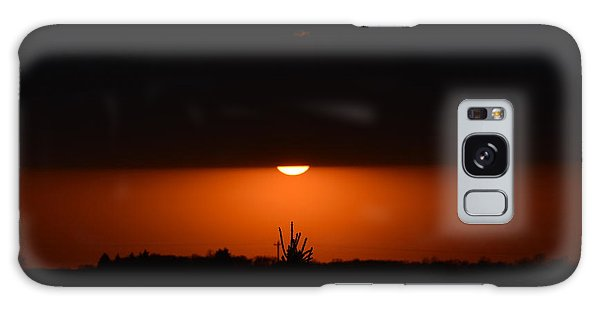 Sliver Of A Sunset Galaxy Case by Dacia Doroff
