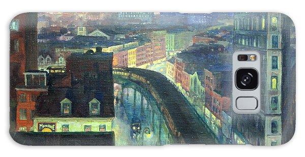 Sloan's The City From Greenwich Village Galaxy Case by Cora Wandel