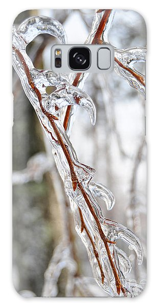 Sloping Icicles Galaxy Case