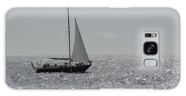Small Boat At Sea Galaxy Case by Eva Csilla Horvath