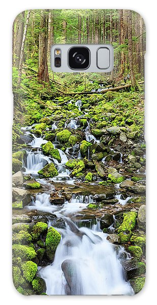 Ecosystem Galaxy Case - Small Creek With Waterfall by Tom Norring