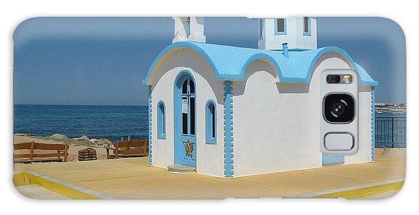 Small Crete Church Galaxy Case by David Grant