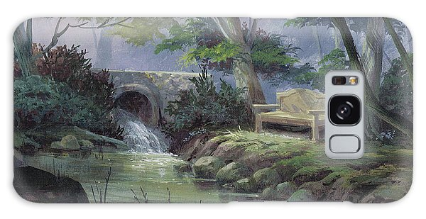 Small Falls Descanso Galaxy Case by Michael Humphries