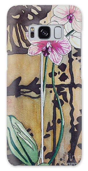 Small Orchids Galaxy Case