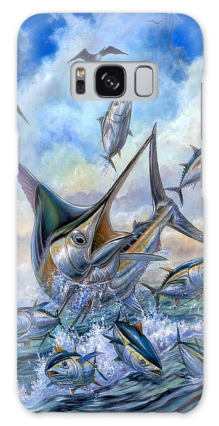 Small Tuna And Blue Marlin Jumping Galaxy Case