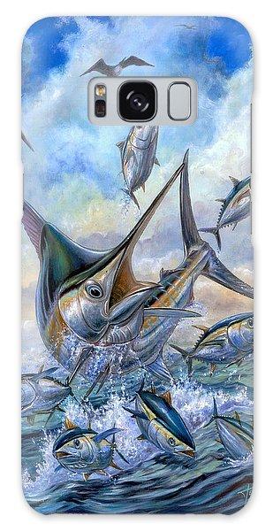 Small Tuna And Blue Marlin Jumping Galaxy Case