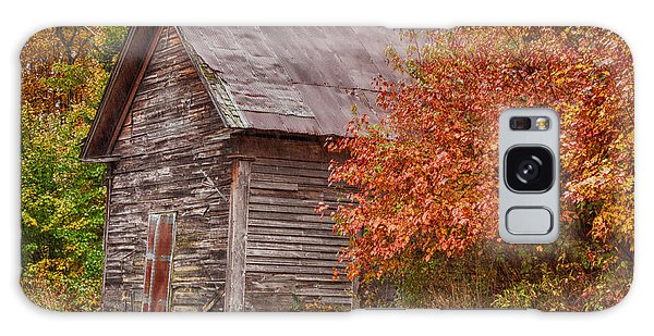 Small Wooden Shack In The Autumn Colors Galaxy Case by Jeff Folger