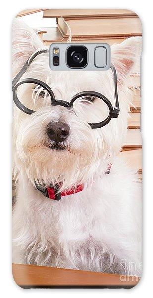 Smart Doggie Galaxy Case by Edward Fielding