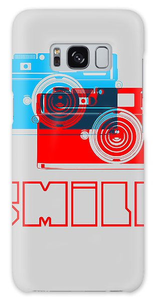 Quote Galaxy Case - Smile Camera Poster by Naxart Studio