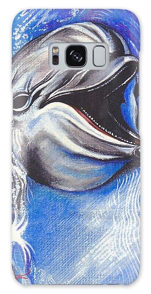 Smiling Dolphin Galaxy Case by John Keaton