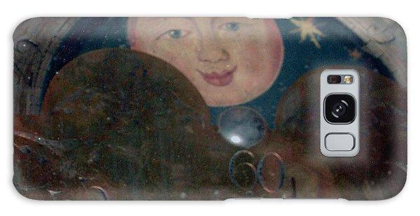Smiling Moon Galaxy Case by Lyric Lucas