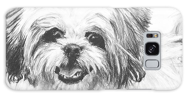 Smiling Shih Tzu Galaxy Case by Kate Sumners