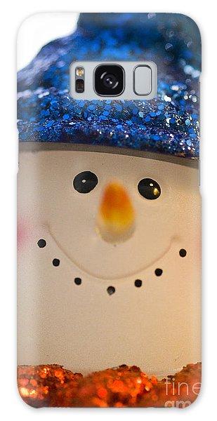 Smiling Snowman Galaxy Case by Birgit Tyrrell
