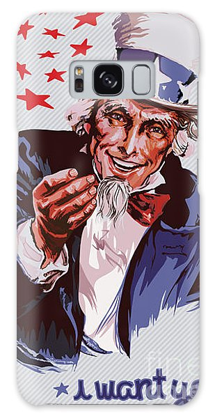 Hair Galaxy Case - Smiling Uncle Sam Removable Text by Ultraviolet