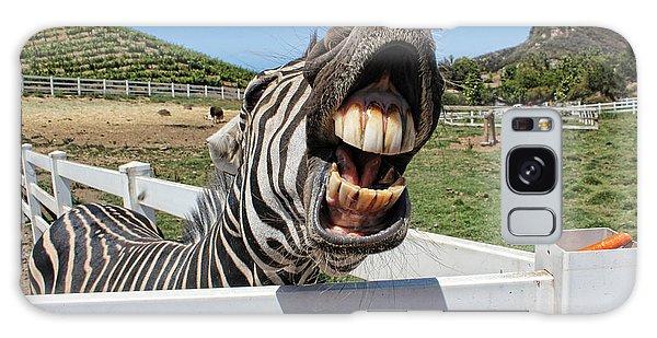 Smiling Zebra Galaxy Case