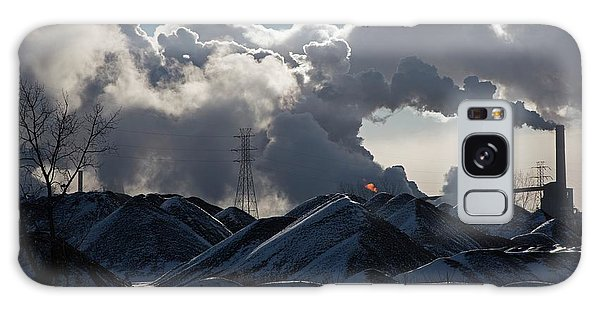 American Steel Galaxy Case - Smoke Rising From A Steel Mill by Jim West