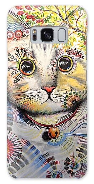 Smokey ... Abstract Cat Art Galaxy Case
