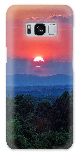 Smokey Mtn Sunset Galaxy Case