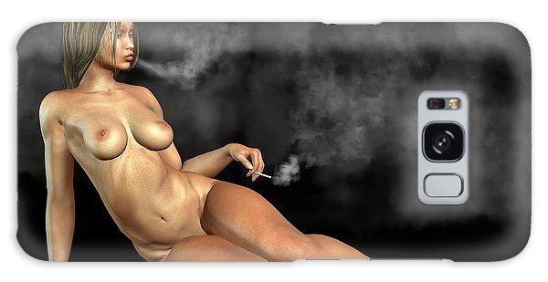 Smoking Nude Galaxy Case by Kaylee Mason