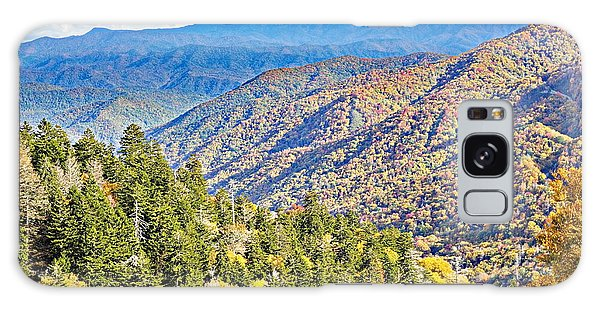 Smoky Mountain Autumn Vista Galaxy Case