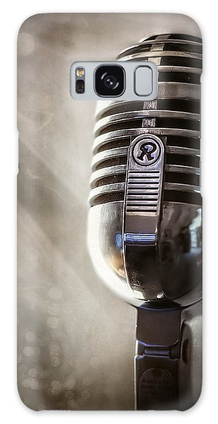 Record Galaxy Case - Smoky Vintage Microphone by Scott Norris