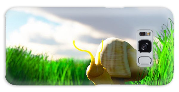 Snail And Grass... Galaxy Case