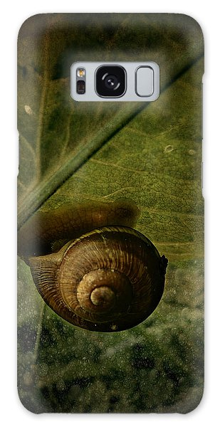 Snail Camp Galaxy Case by Barbara Orenya