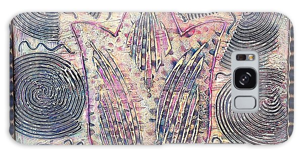 Alfredo Garcia Galaxy Case - Snakes By The Tulip By Alfredo Garcia Art - Original Mixed Media Modern Abstract by Alfredo Garcia