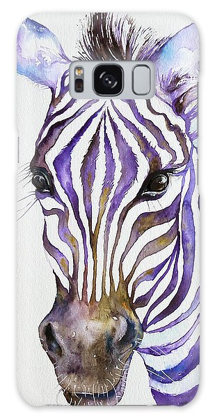 Snazzy_ Purple Stripes Galaxy Case