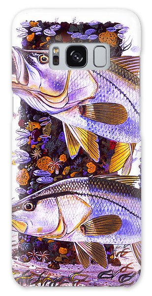 Mangrove Snapper Galaxy Case - Snook Piling by Carey Chen