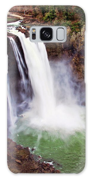 Snoqualmie Falls Galaxy Case by Jerry Cahill