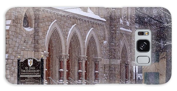 Snow At St. John's Galaxy Case