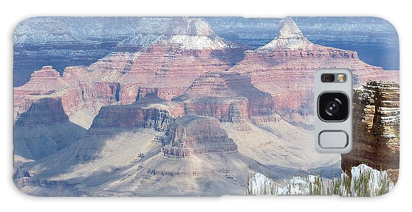 Snow At The Grand Canyon Galaxy Case by Laurel Powell