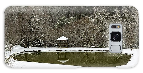 Snow At The Pond Galaxy Case