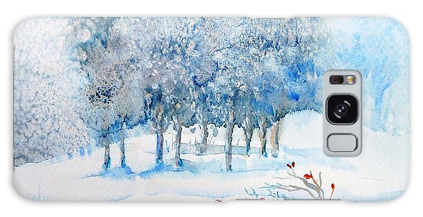 Snow Blizzard In The Grove  Galaxy Case by Trudi Doyle