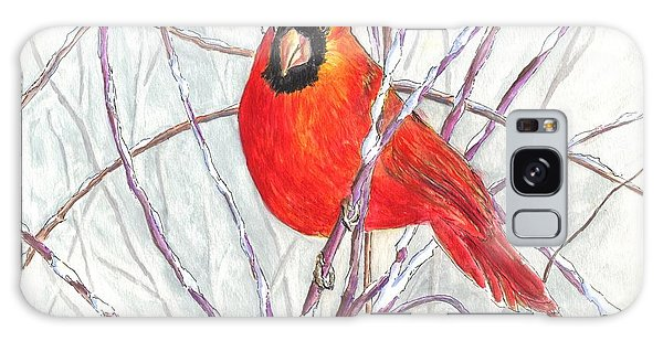 Snow Cardinal Galaxy Case