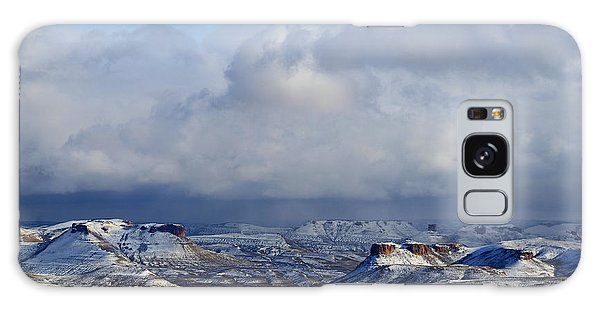 Snow Clouds Over Flaming Gorge Galaxy Case
