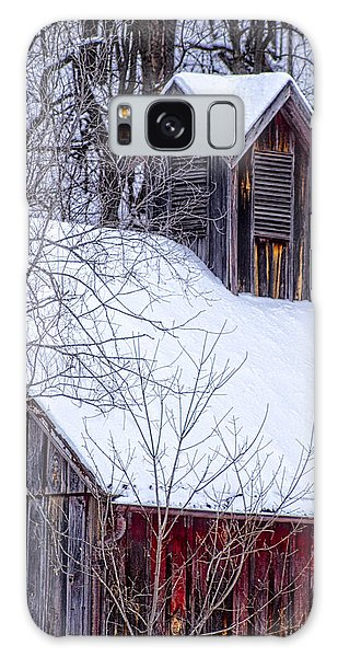 Snow Covered Barn Galaxy Case by Wayne Meyer