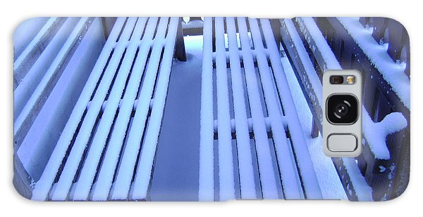 Snow Covered Bench Galaxy Case