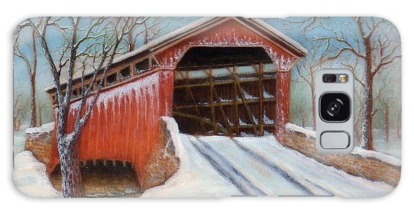 Snow Covered Bridge Galaxy Case