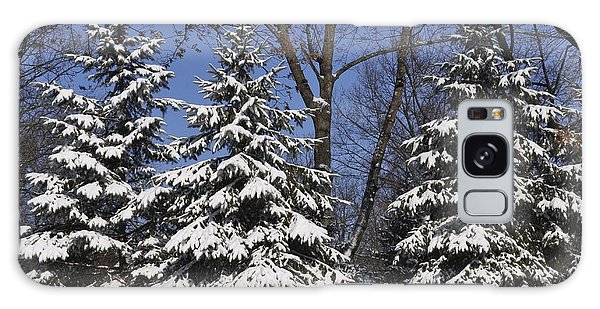 Snow Covered Pines Galaxy Case