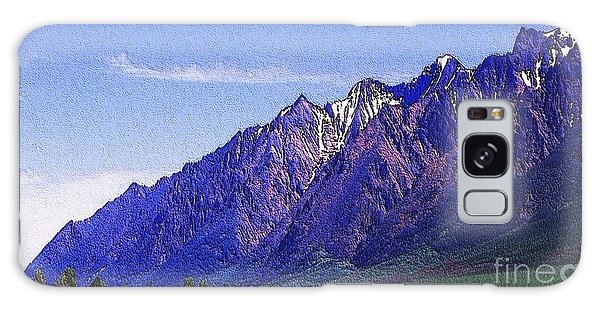 Snow Covered Purple Mountain Peaks Galaxy Case