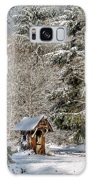 Snow Covered Rustic Shack Galaxy Case