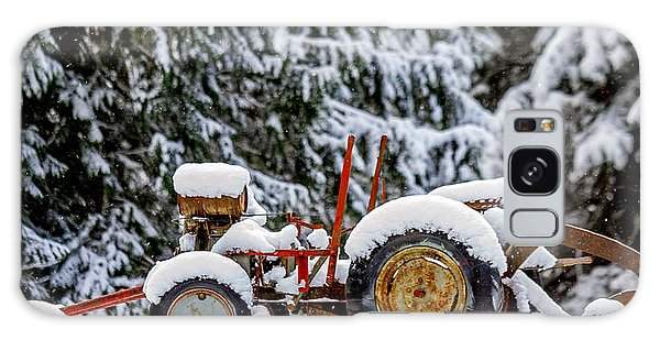 Snow Covered Tractor Galaxy Case