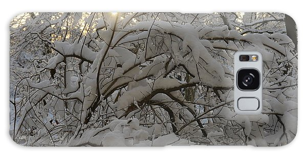 Snow Covered Tree And Sun Galaxy Case