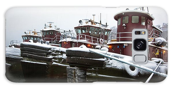 Snow Covered Tugboats Galaxy Case