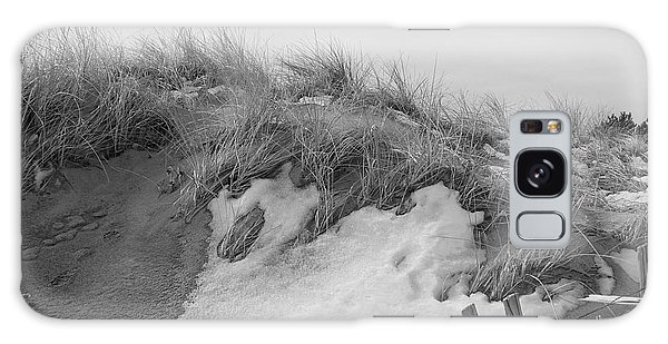 Snow Covered Sand Dunes Galaxy Case by Eunice Miller