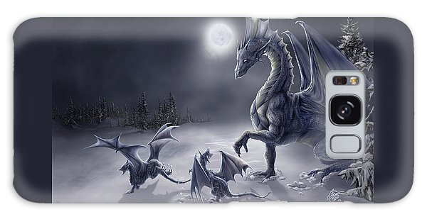 Dragon Galaxy Case - Snow Day by Rob Carlos